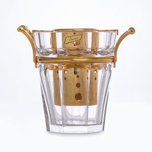 Baccarat Gilt-Bronze Mounted Glass Ice Bucket