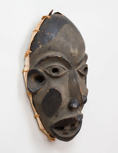 Nigerian Carved Wood Deformation Mask