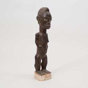 Baule Style Wood Male Standing Figure