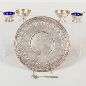 Group of American Silver Condiment Articles