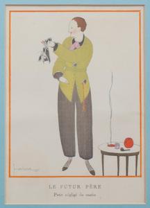 Georges Lepape (1887-1971): Le Futur Père: Petit Néligé du Matin