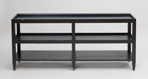 Black Painted Three Tier Table, After a Design by Mongiardino