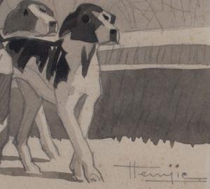 Marcel Jacques Hemjic (1894-1942): Fox Hunters