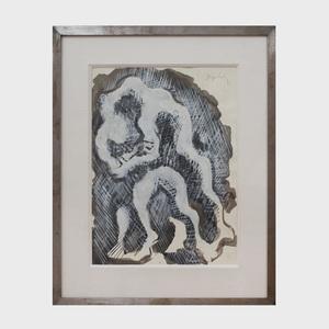 Jacques Lipchitz (1891-1973): Lutte-étude pour un sculpture