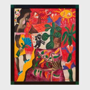 Leonel Maciel (b. 1939): Figures in a Garden
