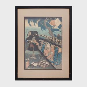 Japanese School: Three Framed Prints