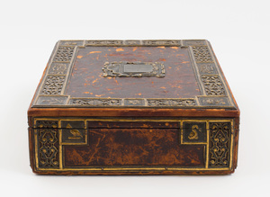Edward F. Caldwell & Co. Metal-Mounted Leather Covered Humidor
