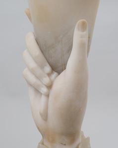 Carved Alabaster Torchère