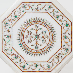 Five Indian Inlaid Marble Tops