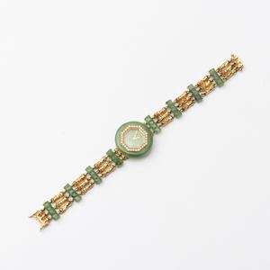 Boucheron 18k Gold and Nephrite Ladies Wristwatch
