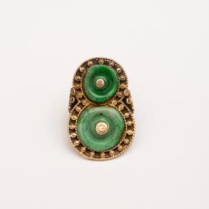 14k Gold and Jade Ring