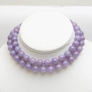Lavender Jade Bead Necklace