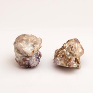Pair of Baroque Pearl Earclips