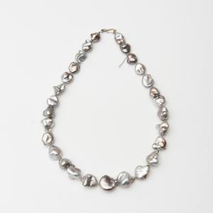 Large Grey Baroque Pearl Necklace