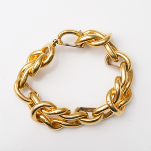 14k Gold Knot Shaped Link Bracelet