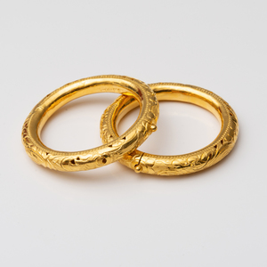 Pair of Silver-Gilt Bangles