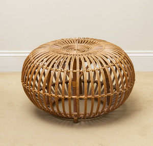 Franco Albini Wicker Poof