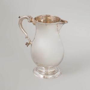 George II Silver Pear Form Footed Cider Jug