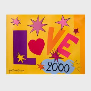 Yves Saint Laurent Love Poster, 2000