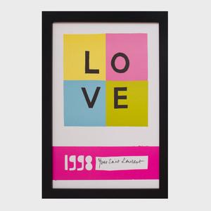 Yves Saint Laurent Love Poster, 1998
