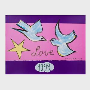 Yves Saint Laurent Love Poster, 1999