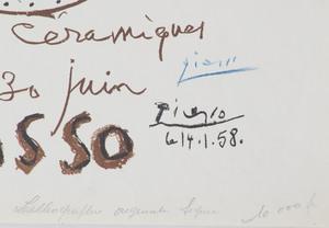 Pablo Picasso (1881-1973): Picasso-Ceramics Exhibition