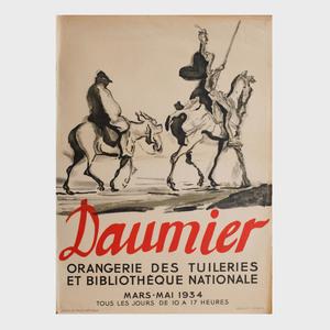 Four Honoré Daumier Posters