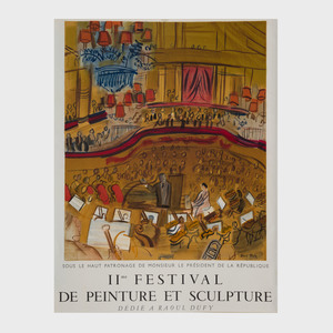 Four Raoul Dufy Exhibition Posters