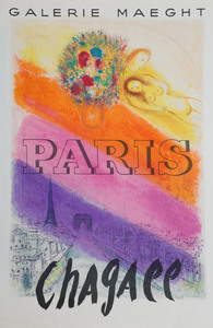 Four Chagall Exhibition Posters
