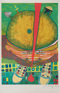 Frederick Hundertwasser (1928-2000): Untitled; and Untitled
