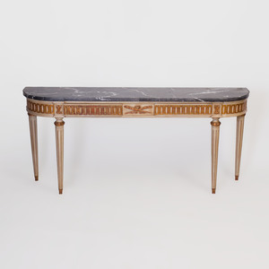 Louis XVI Style Painted and Parcel-Gilt Console