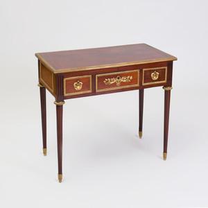 Fine Louis XVI Ormolu-Mounted Mahogany Writing Table