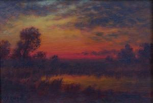 20th Century School: Sunset Landscape