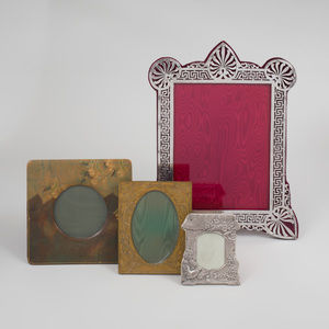 Victorian Silver Picture Frame, and a Group of Three Frames