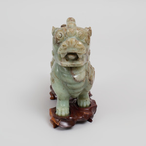 Chinese Jade Figure of a Buddhistic Lion