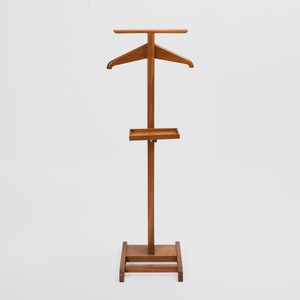 Mahogany Valet Stand, in the Style of Jacques Adnet