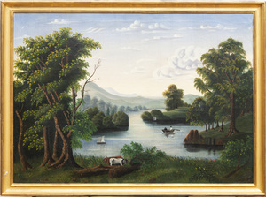 Attributed to Thomas Chambers (1808-1869):  River Landscape