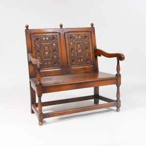 Dutch Carved Oak Settle