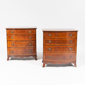 Pair of George III Style Diminutive Mahogany Chests of Drawers