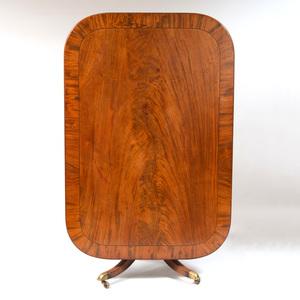 George III Style Inlaid Mahogany Breakfast Table
