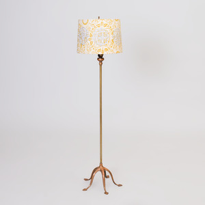 Tiffany Style Patinated Metal Floor Lamp