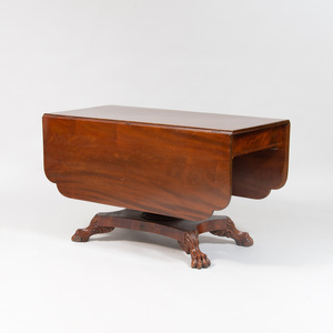 Classical Style Mahogany Drop Leaf Table
