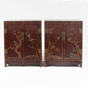 Pair of Chinese Lacquer Cabinets