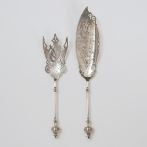 George Sharp Silver Two Piece Fish  Set