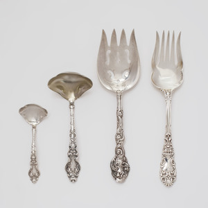 Group of Four American Silver Serving Pieces