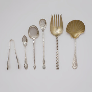 Group of American and Continental Silver Serving Pieces