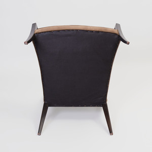 Harvey Probber Caned and Ebonized Chair
