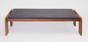 Adrian Pearsall Slate and Walnut Coffee Table