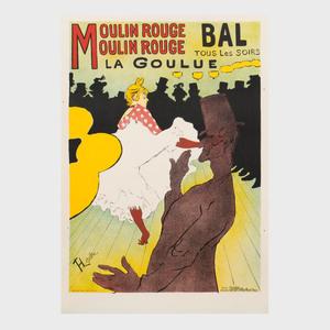 After Henri de Toulouse-Lautrec (1864-1901):  La Goulue-Moulin Rouge