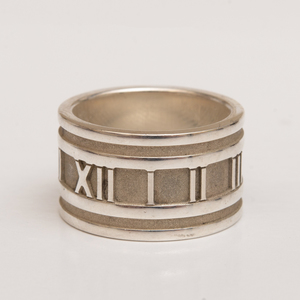 Tiffany & Co. Sterling Silver Roman Numeral Ring